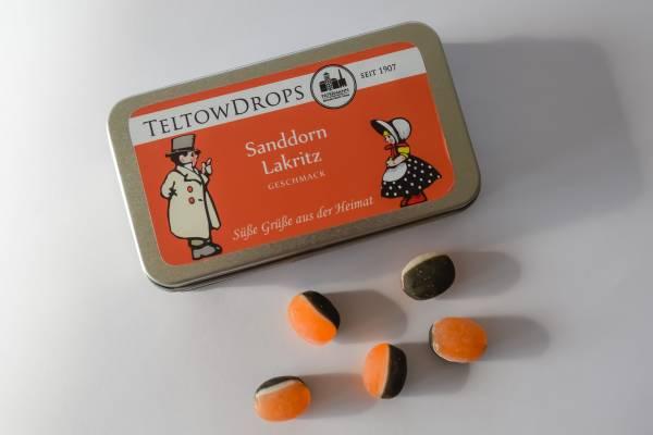 TeltowDrops | Sanddorn-Lakritz Bonbons | 90 g Dose