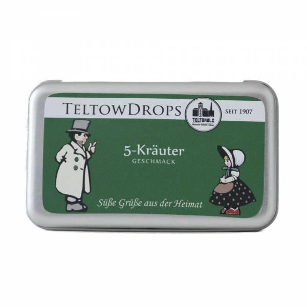 TeltowDrops   5-Kräuter Bonbons   90 g Dose