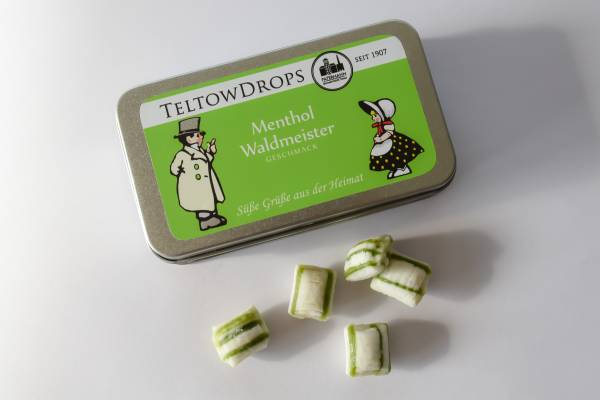 TeltowDrops | Menthol-Waldmeister Bonbons | 80 g Dose